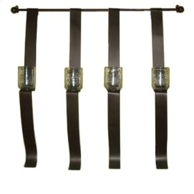 Forged Iron 4 Armed Wall Candle Holder