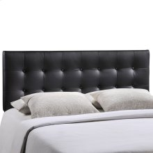 Emily Queen Upholstered Vinyl Headboard in Black