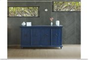 Console w/4 Doors, Blue finish Product Image