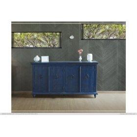 Console w/4 Doors, Blue finish