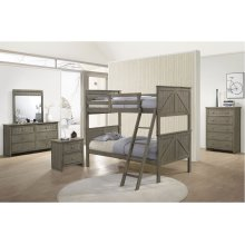 3016 Ashland Twin/Twin Bed with Dresser & Mirror