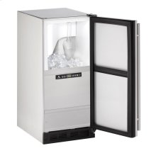"""Outdoor Series 15"""" Outdoor Clear Ice Machine With Stainless Solid Finish and Field Reversible Door Swing"""