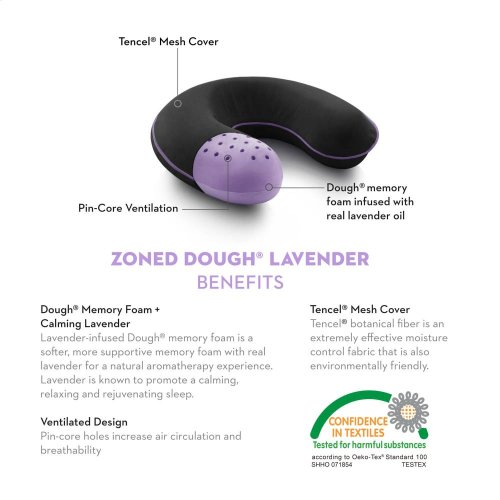 Travel Neck Zoned Dough Lavender - Travel Neck