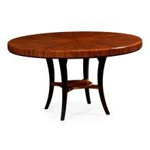 "54"" Art Deco Satin Round Dining Table"