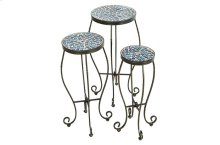 Tremiti Round Plant Stands - Set of 3