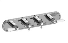 Canterbury M-Series Valve Horizontal Trim with Four Handles