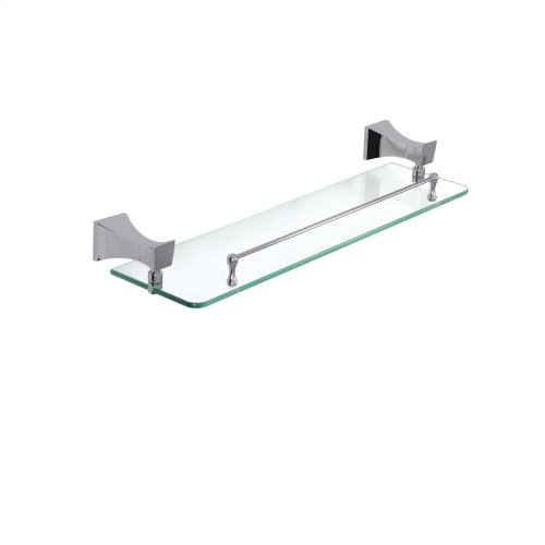 Wallmount glass shelf