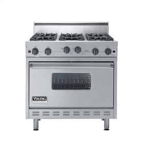 "Stainless Steel 36"" Open Burner Range - VGIC (36"" wide, six burners)"