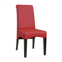 Dining Chair Upholstered Seat & Back-kd-pu Red#al850-5 (2/ctn) Product Image