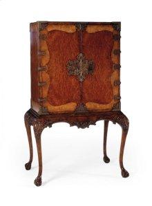 Queen Anne Walnut & Satinwood Drinks Cabinet