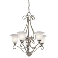 Camerena Collection Camerena 5 Light Chandelier - Brushed Nickel