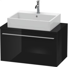 X-large Vanity Unit For Console Compact, Black High Gloss Lacquer