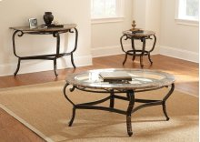 "Gallinari End Table 26""x26""x24"" 5mm"