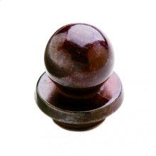"""Ball Finial Cap 7/8"""" Barrel Silicon Bronze Brushed"""