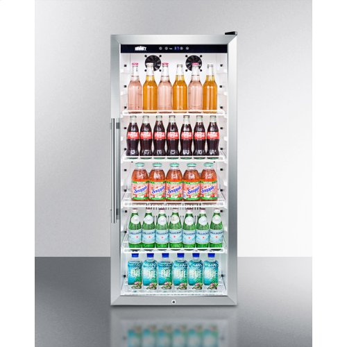 0a514c2fe0e 9 CU.FT. Commercial Glass Door Beverage Merchandiser With Digital Controls