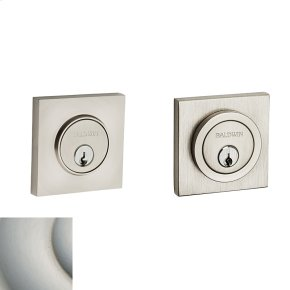 Satin Nickel with Lifetime Finish Contemporary Square Deadbolt