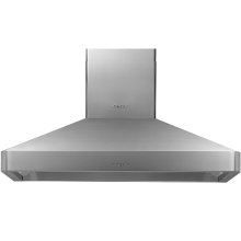 "Heritage 48"" Chimney Wall Hood, Silver Stainless Steel"