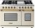 Additional Range DECO 48'' Classic Cream matte, Bronze 6 gas, griddle and 2 gas ovens