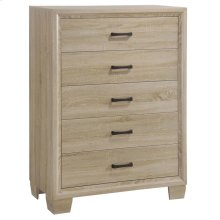 Vernon White-washed Five-drawer Chest
