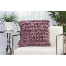 "Shag Dl058 Lavender 20"" X 20"" Throw Pillows"