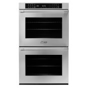 """30"""" Double Wall Oven, DacorMatch with Pro Style Handle (End Caps in stainless steel)"""