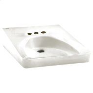 Wheelchair Users Wall Mounted Sink - White