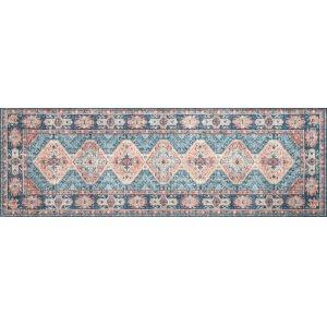 Turquoise / Terracotta Rug