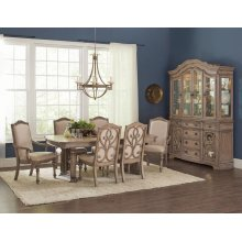 Ilana Traditional Rectangular Formal Seven-piece Dining Table Set