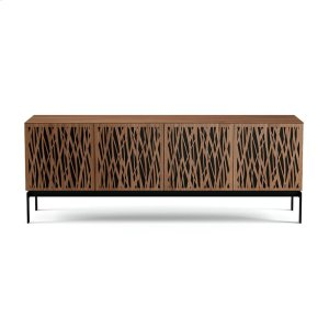 Bdi FurnitureQuad Cabinet With Console Base in Wheat Doors Natural Walnut