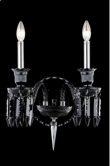 8902 Majestic Collection Wall Sconce Black Finish (Elegant Cut Jet Black)
