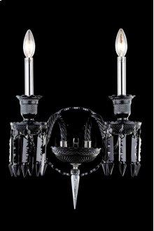 8902 Majestic Collection Wall Sconce Black Finish (Elegant Cut Jet Black)