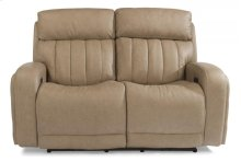 Danvers Leather Power Reclining Loveseat with Power Headrests