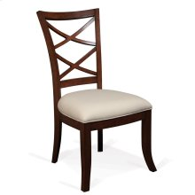 Windward Bay - Xx-back Upholstered Seat Side Chair - Warm Rum Finish