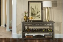 Bolt Sofa Table With Removable Wine Rack - Dark Graywash