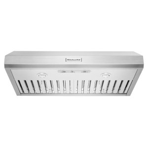 "KitchenAid36"" 585 CFM Motor Class Commercial-Style Under-Cabinet Range Hood System - Stainless Steel"