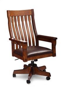 MaRyan Arm Desk Chair, Leather Cushion Seat