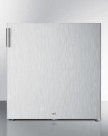 Compact Commercially Listed All-freezer for General Purpose Use, Manual Defrost With Lock and Stainless Steel Exterior