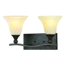 Sierra Collection Two-Light Fluorescent Bathroom V