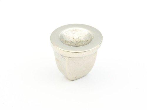 "Cast Bronze, Ovale, Round Knob, 1-1/4"" diameter, Polished White Bronze finish"