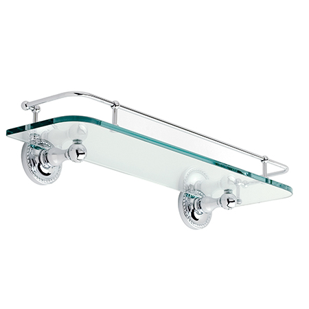 "Satin-Nickel 18"" Gallery Rail Shelf"