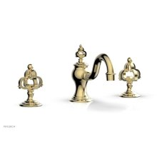 COURONNE Widespread Faucet Cross Handles 163-01 - Polished Brass Uncoated