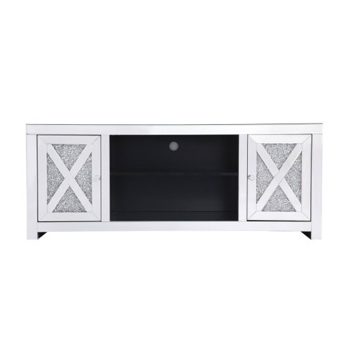 This mirror paneled tv stand is the perfect complement to your entertainment spaces. You can enjoy watching endless movies, host premier nights, or play video games until the stars are sparkling just as bright as the silver crystals that embellish the panels within the X-shaped details of the cabinet doors, which opens to reveal a […]