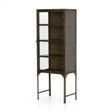 Aged Brass Finish Element Small Cabinet