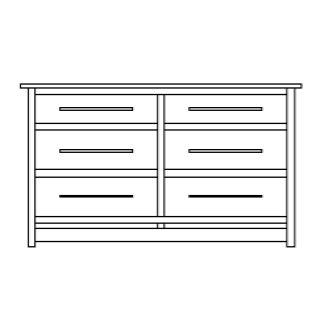 "Hyde Park 6 Drawer 60"" Dresser"