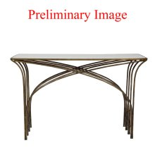 Gold & White Marble Console Table