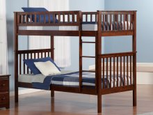Woodland Bunk Bed Twin over Twin in Walnut