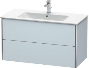 Vanity Unit Wall-mounted, Light Blue Satin Matt Lacquer