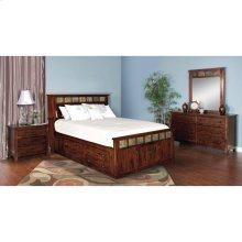"Santa Fe Queen Storage Bed 66"" X 96"" X 54""h"