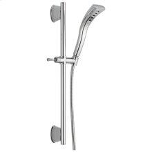 Chrome H2Okinetic ® Single-Setting Slide Bar Hand Shower