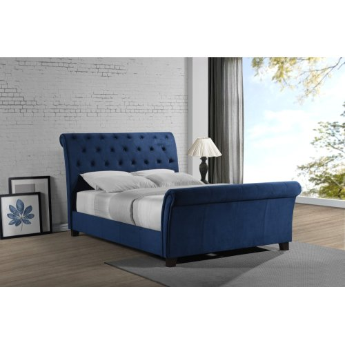 Emerald Home Innsbruck Upholstered Bed Kit King Cobalt Blue B115-12-14-k